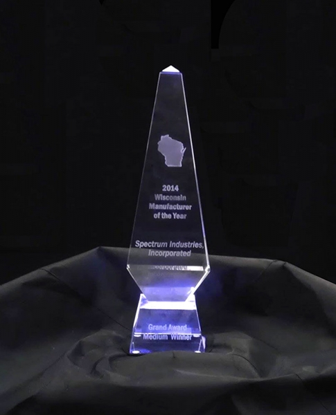 Spectrum Manufacturer Of The Year - award