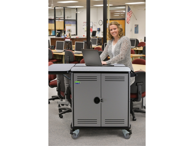 Spectrum Flex Lectern - mobile device cart - in library