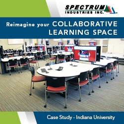 Indiana University Collaborative Learning Space with Spectrum Tables