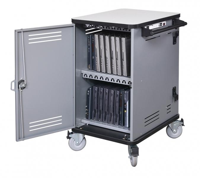Notebook Management Spectrum Pro20 Cart - side open