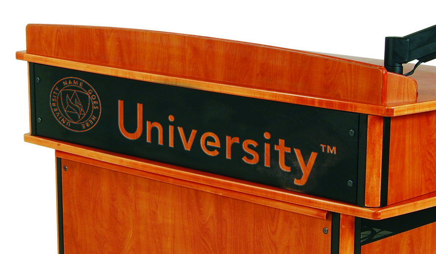 Customized Logo Panel for Doctorate Lectern