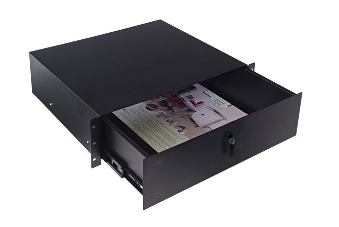 Rack-mount locking drawer 3RU