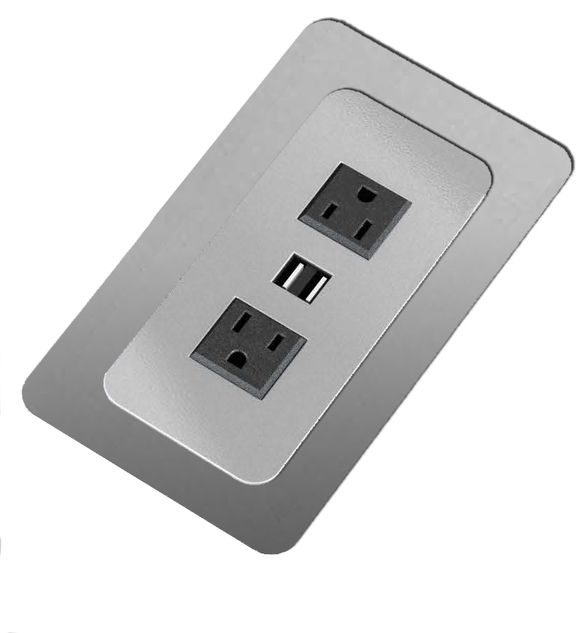 Cove Power Module Kit (2 AC / 2 USB) includes adapter plates