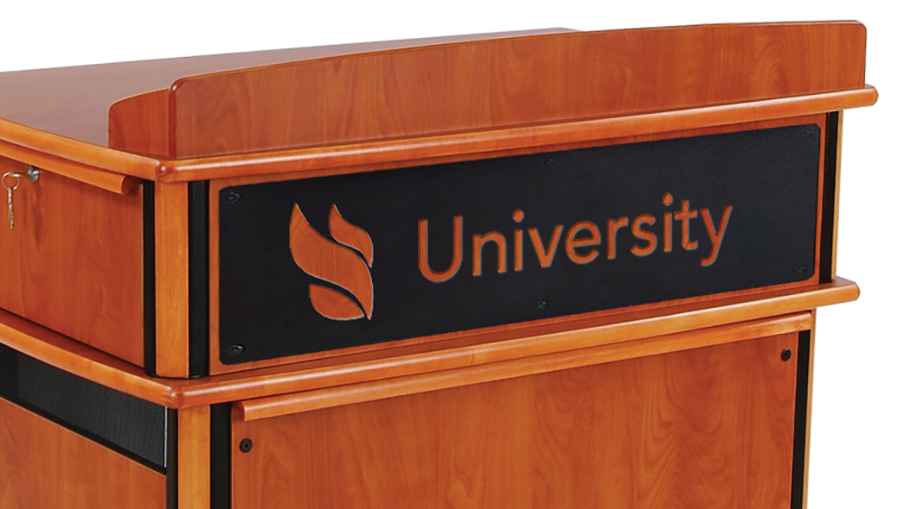 Customized Logo Panel for Masters Lectern