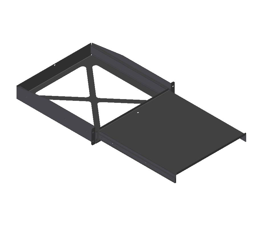 "Rack-mount pull-out shelf 2RU (17.75""D)"