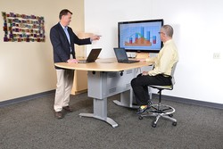 InVision Access Table with 2pc worksurface