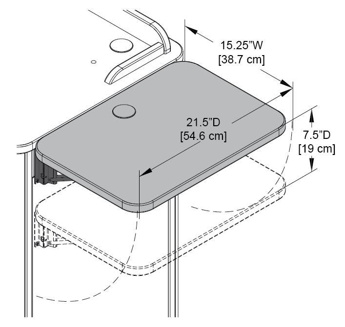 Flip-up Shelf Compact Lectern