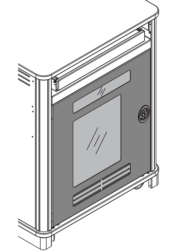 Instructor-Side Door for MM-Series Compact, Link Lecterns