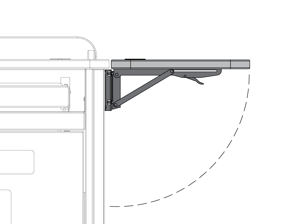 Flip-Up Shelf for Link and CORE Lecterns