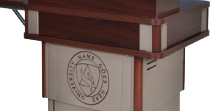 Customized Lower Logo Panel for Honors Lectern