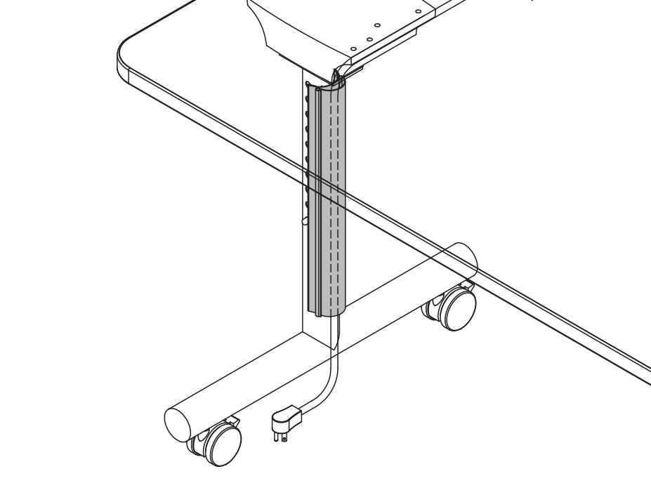 Flex Flip Wire Management Leg Channel