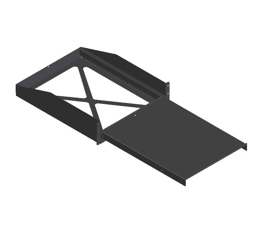 "Rack-mount pull-out shelf 3RU (21.75""D)"