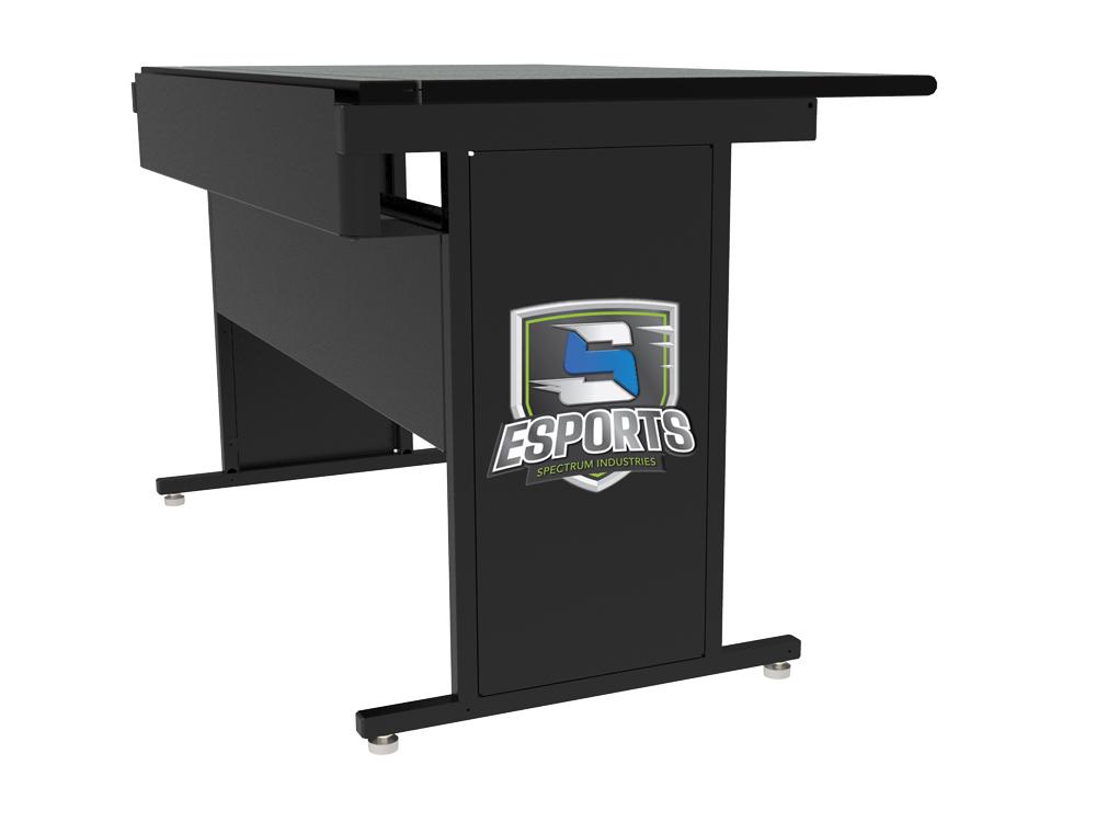 Esports Metal Leg Panel with Printed Backer