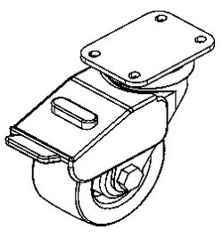 "4"" Heavy-Duty Total Locking Casters (HD) (plate) set of 4"
