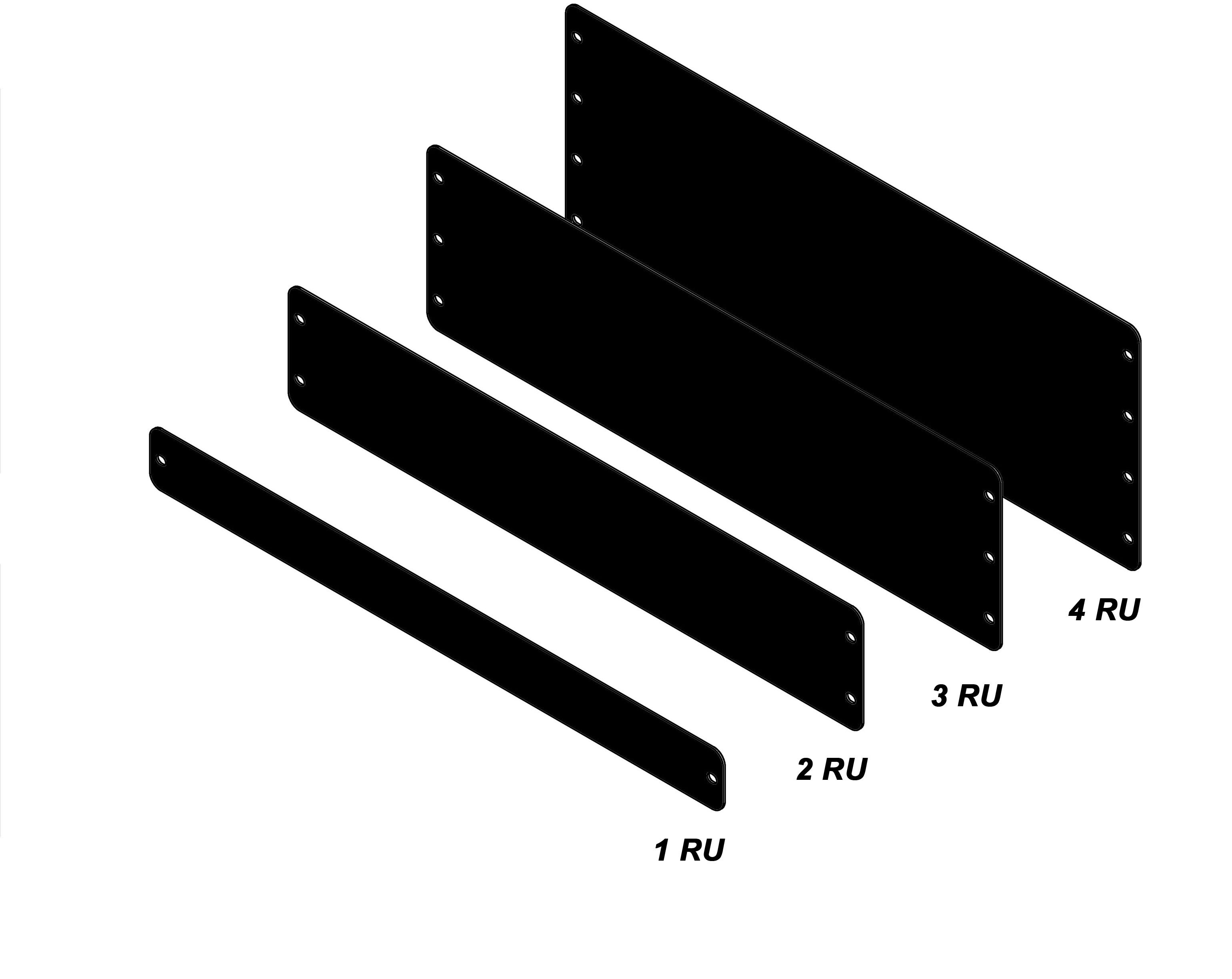 Rack-mount blanks