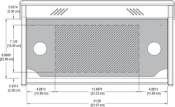 Blank insert panel for small Overbridge Control Console