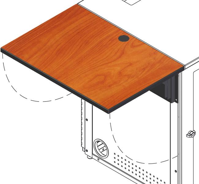Flip-Up Shelf for IMC equipment rack