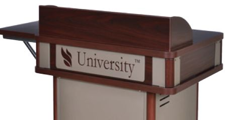 Customized Upper Logo Panel for Honors Lectern