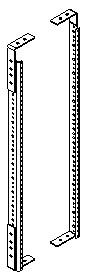 Rear Rack Rail Kit for Inspiration Lectern