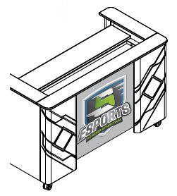"Customized Logo Panel - Single 60"" Shoutcaster"