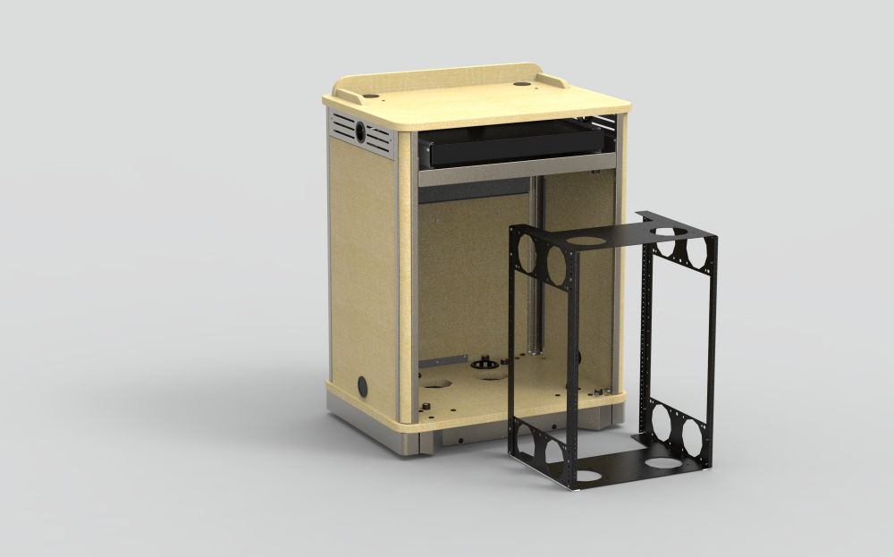 16RU Rack Cube for MM Compact Lectern