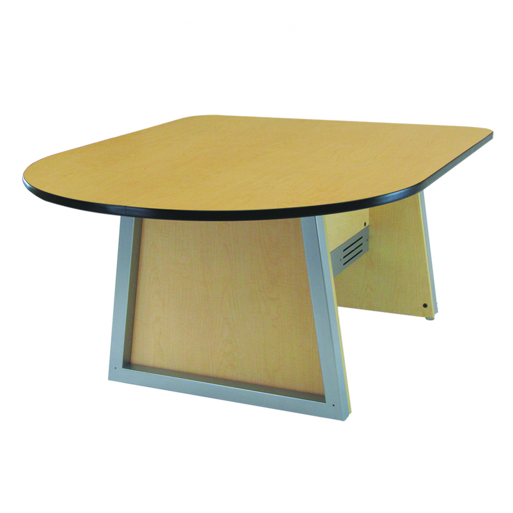 InVision Media Collaboration Table (D-Shaped)