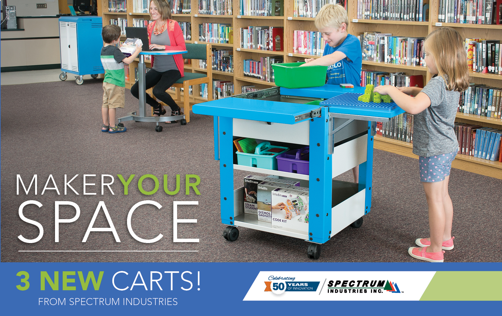 3 New Maker Space Carts from Spectrum!
