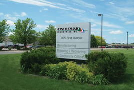 Spectrum Industries outdoor sign 2
